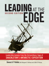 "Leading At The Edge (MP3): ""Leadership Lessons From The Extraordinary Saga Of Shackleton'S Antarctic Expedition"