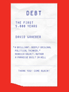 Debt (MP3): The First 5,000 Years