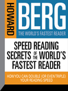 Speed Reading Secrets of the World's Fastest Reader (MP3): How You Could Double (or even triple) Your Reading Speed