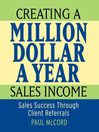 Creating a Million-Dollar-a-Year Sales Income (MP3)