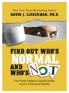 Find Out Who's Normal and Who's Not (MP3): The Proven System to Quickly Assess Anyone's Emotional Stability
