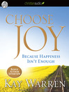 Choose Joy (MP3): Because Happiness Isn't Enough