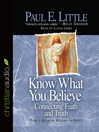Know What You Believe (MP3)