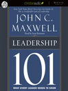 Leadership 101 (MP3): What Every Leader Needs to Know