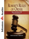 Robert's Rules of Order (MP3)
