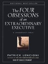 The Four Obsessions of an Extraordinary Executive (MP3)