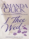 I Thee Wed (MP3): Vanza Series, Book 2