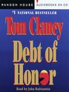 Debt of Honor (MP3): Jack Ryan Series, Book 8