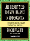 All I Really Need to Know I Learned in Kindergarten (MP3): Fifteenth Anniversary