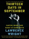 Thirteen Days in September (MP3): Carter, Begin, and Sadat at Camp David