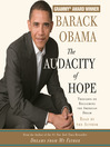 The Audacity of Hope (MP3): Thoughts on Reclaiming the American Dream
