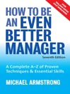 How to be an Even Better Manager (eBook)