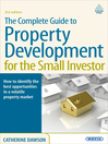 The Complete Guide to Property Development for the Small Investor (eBook)