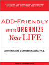 ADD-Friendly Ways to Organize Your Life (MP3)