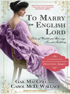 To Marry an English Lord (MP3)