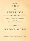 The End of America (MP3): Letter of Warning to a Young Patriot