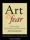 Art & Fear (MP3): Observations On the Perils (and Rewards) of Artmaking