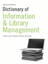 Dictionary of Information and Library Management (eBook)