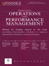 Effective Operations and Performance Management (eBook)