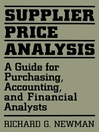 Supplier Price Analysis