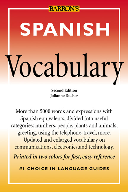Spanish Vocabulary  2nd by Julianne Dueber eBook