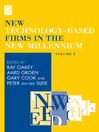 New Technology-based Firms in the New Millennium (eBook)
