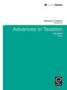 Advances in Taxation (eBook)