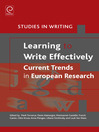 Learning to Write Effectively (eBook): Current Trends in European Research