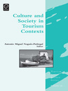 Culture and Society in Tourism Contexts (eBook)
