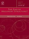 The End of Argument Structure? (eBook)