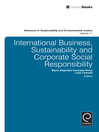 International Business, Sustainability and Corporate Social Responsibility (eBook)