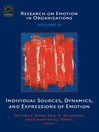 Individual Sources, Dynamics, and Expressions of Emotion (eBook)