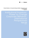 Institutional Investors' Power to Change Corporate Behaviour (eBook): International Perspectives
