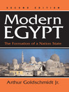 Modern Egypt (eBook): The Formation of a Nation-state