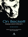 On Beckett (eBook): Essays and Criticism