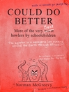 Could Do Better (eBook)