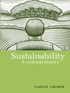 Sustainability (eBook): A Cultural History