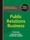 Public Relations Business (eBook): Entrepreneur's Step-by-Step Startup Guide