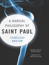 A Radical Philosophy of Saint Paul (eBook)
