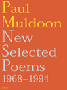 New Selected Poems (eBook): 1968-1994