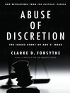 Abuse of Discretion (eBook): The Inside Story of Roe v. Wade