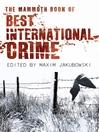 The Mammoth Book Best International Crime (eBook)