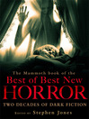The Mammoth Book of the Best of Best New Horror (eBook): Two Decades of Dark Fiction