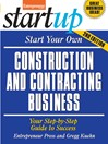 Start Your Own Construction and Contracting Business (eBook)