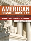 American Constitutional Law, Volume I (eBook): The Structure of Government