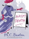 Hasty Death (eBook): Edwardian Murder Mystery Series, Book 2