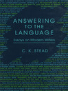 Answering to the Language (eBook): Essays on Modern Writers