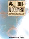 An Error in Judgement (eBook)