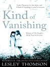 A Kind of Vanishing (eBook)