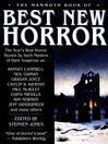 The Mammoth Book of Best New Horror 2003, Volume 14 (eBook)